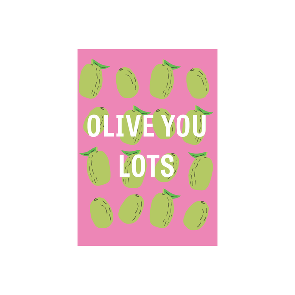 Iko Iko Fruit Pun Card Olive you Lots