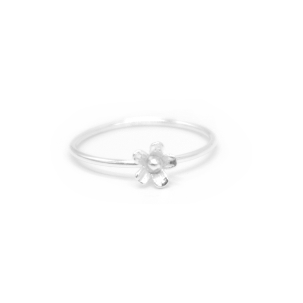 Iko Iko Ring Tiny Flower Silver