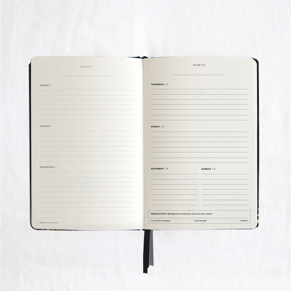 Frank A5 Hard Cover Everyday Planner Black