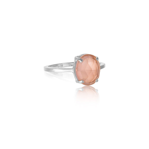 Kerry Rocks Ophelia Ring Pink Onyx Silver