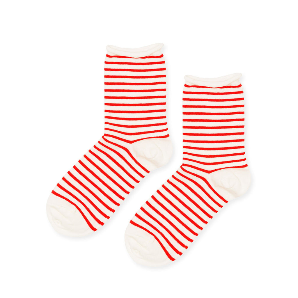 Hansel From Basel Socks Nautical Stripe Red