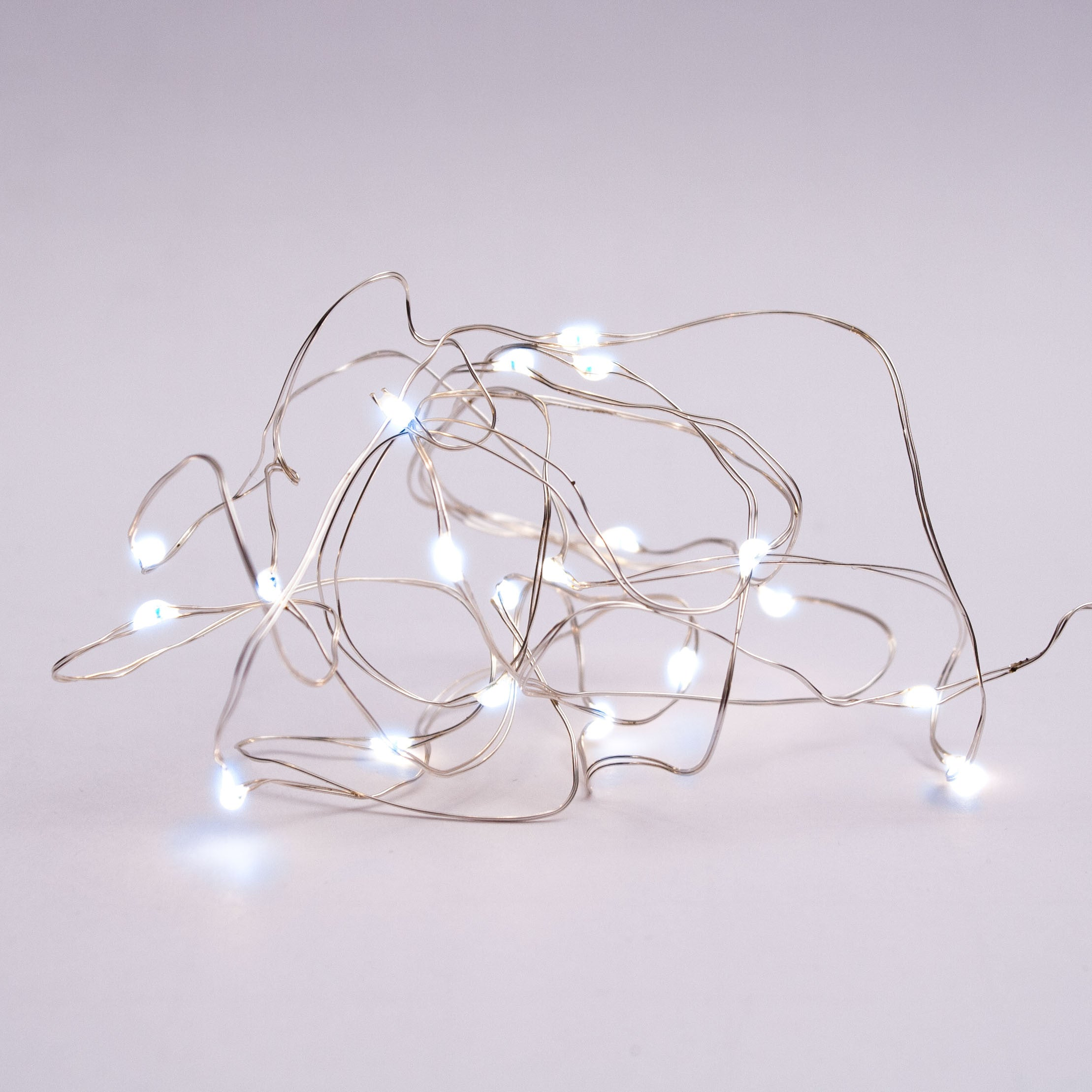 LED Wire Seed Solar Light String Silver Cool White - Iko Iko