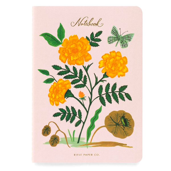 Rifle Paper Co Pack of 3 Stitched Notebooks Ruled Large Botanical
