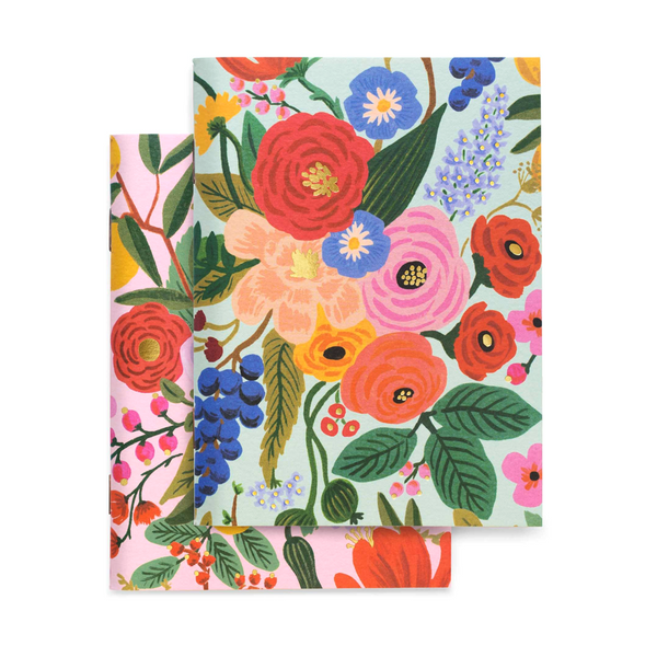 Rifle Paper Co Pack of 2 Notebooks Plain Pocket Garden Party