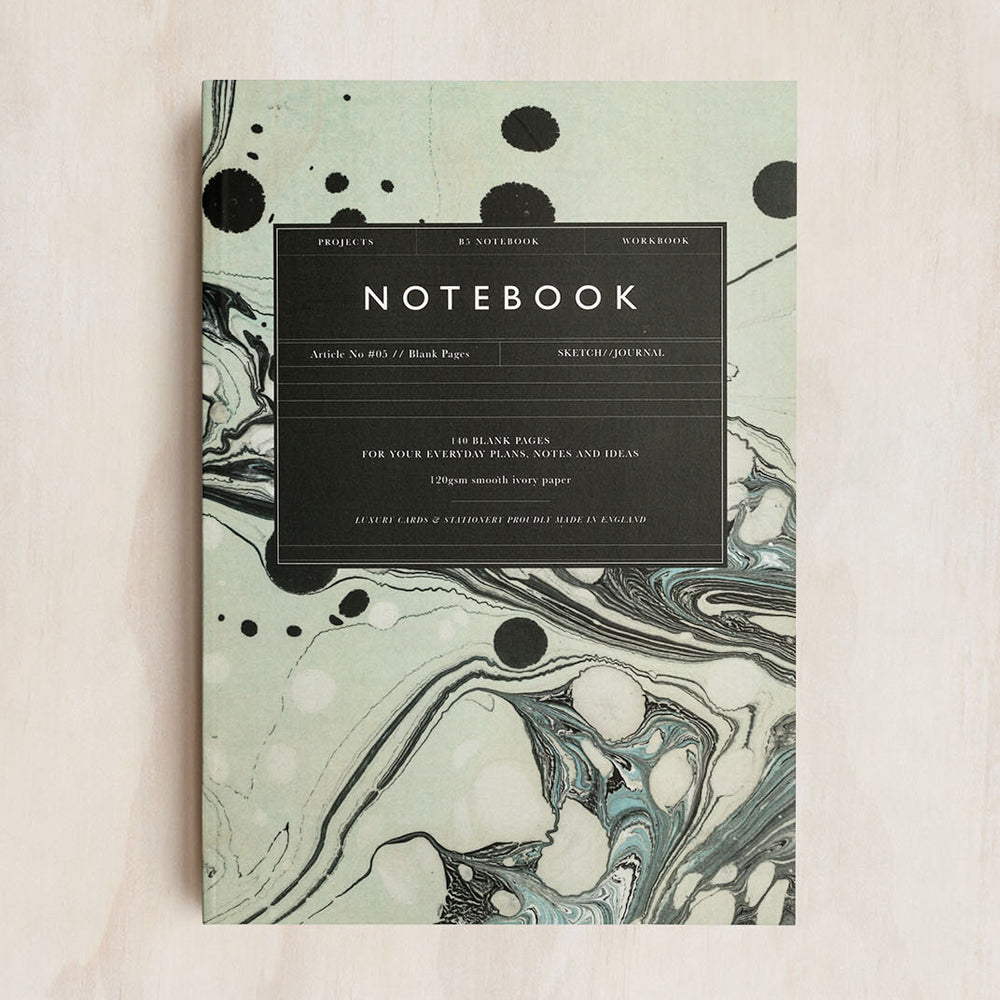 Katie Leamon Marble Notebook Plain B5 Article No. 05