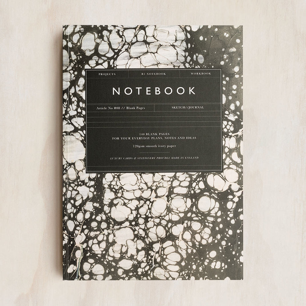 Katie Leamon Marble Notebook Plain B5 Article No. 08