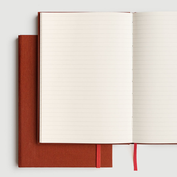 Milligram Linen A5 Notebook Ruled Terracotta
