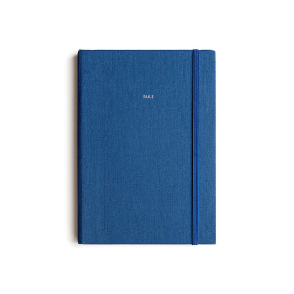 Milligram Linen A5 Notebook Ultramarine