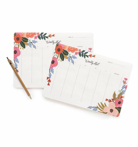 Rifle Paper Co Weekly Desk Pad Lively Floral