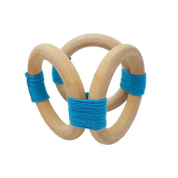 Munch Baby Wooden Soothing Toy Blue