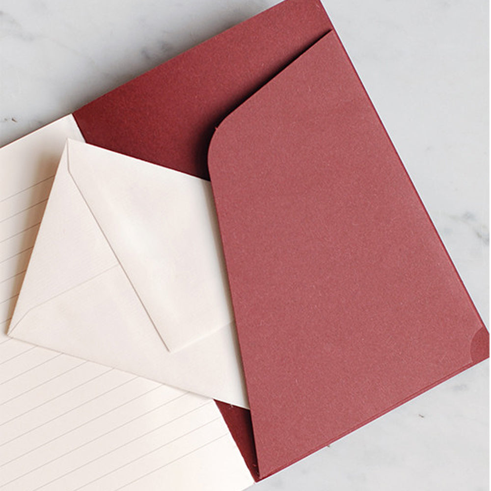 O-Check Design Graphics Pocket Memo Book Ruled Red