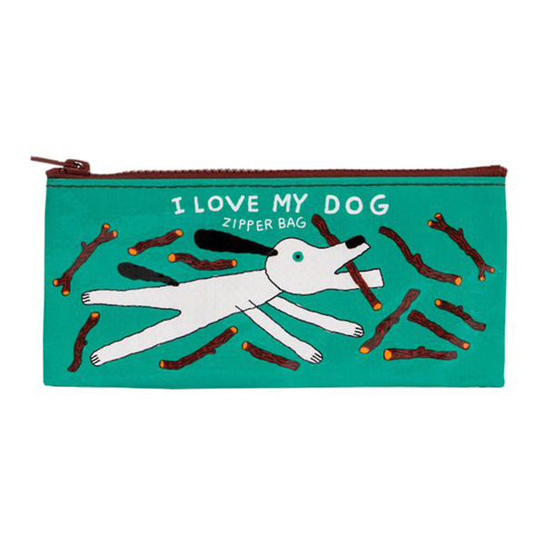Blue Q Pencil Case I Love My Dog