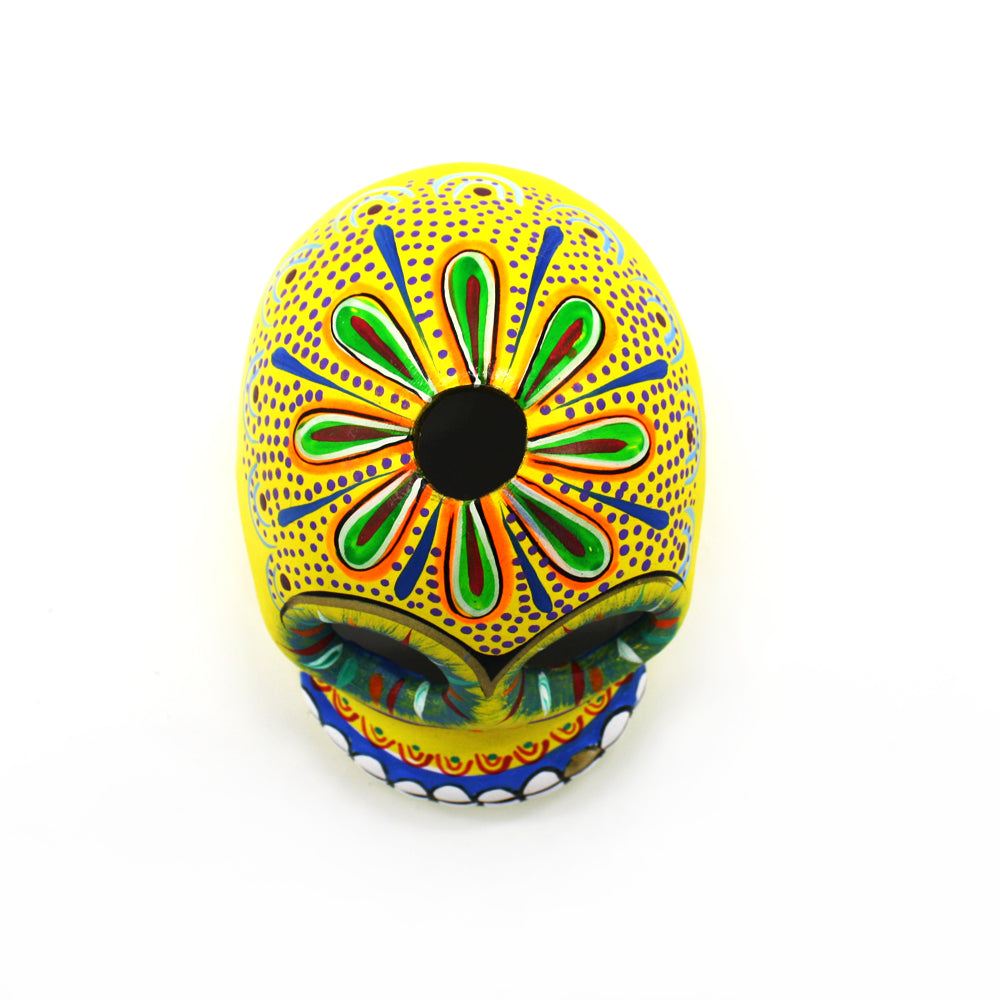 Mexican Yellow Decorated Skull