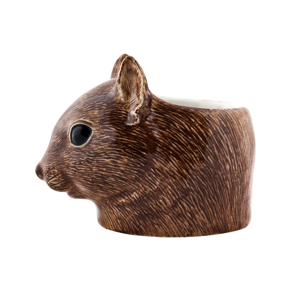 Quail Squirrel Face Egg Cup