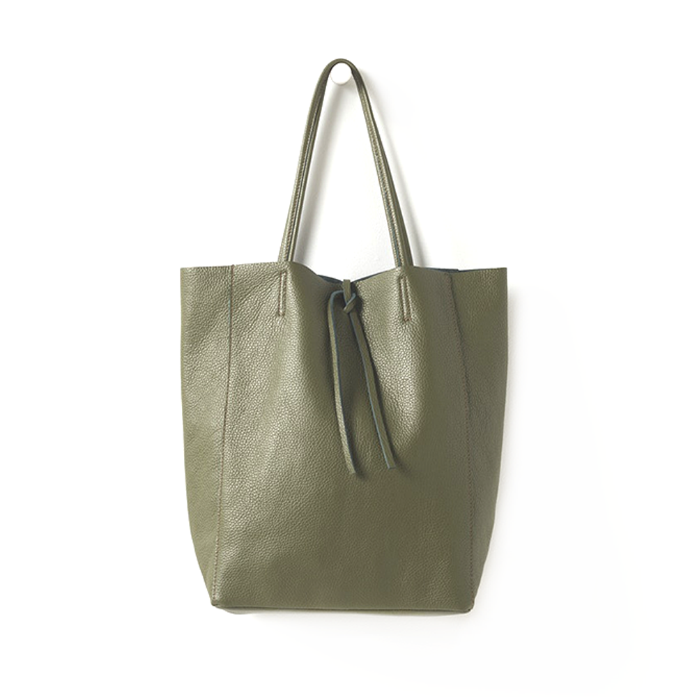 Citta Florence Leather Tote Bag Olive