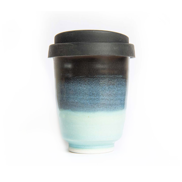 Westcoast Stoneware 8oz Reusable Cup Ruapuke Black and Blue