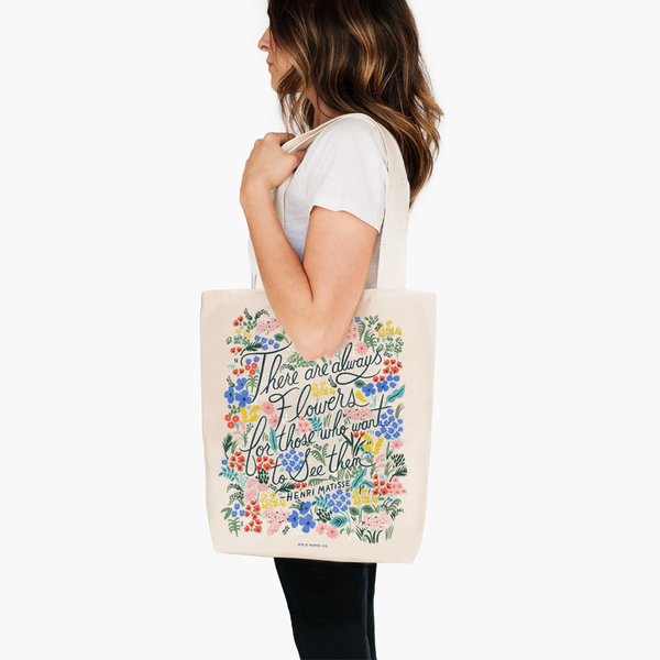Rifle Paper Co Tote Bag Seeing Flowers
