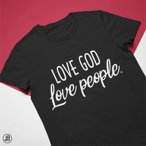 Love God - Love People - Womens Cotton T-Shirt