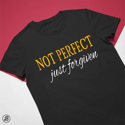 NOT PERFECT - Just forgiven - Womens Cotton T-Shirt