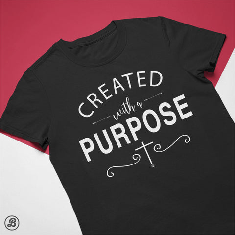Created With a Purpose - Womens Cotton T-Shirt