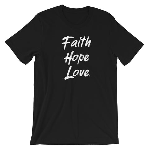 Faith - Hope - Love - Womens Cotton T-Shirt