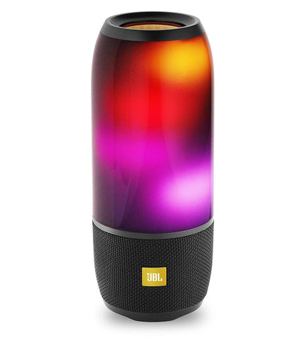 Pulse Wireless Portable Speaker with Vibrant Lightshow (Black)