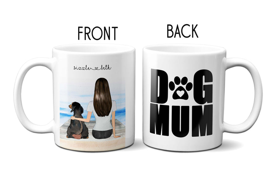 BFF Dog Mum Best Friends Unique Gift Personalised Name Love Friendship Pet