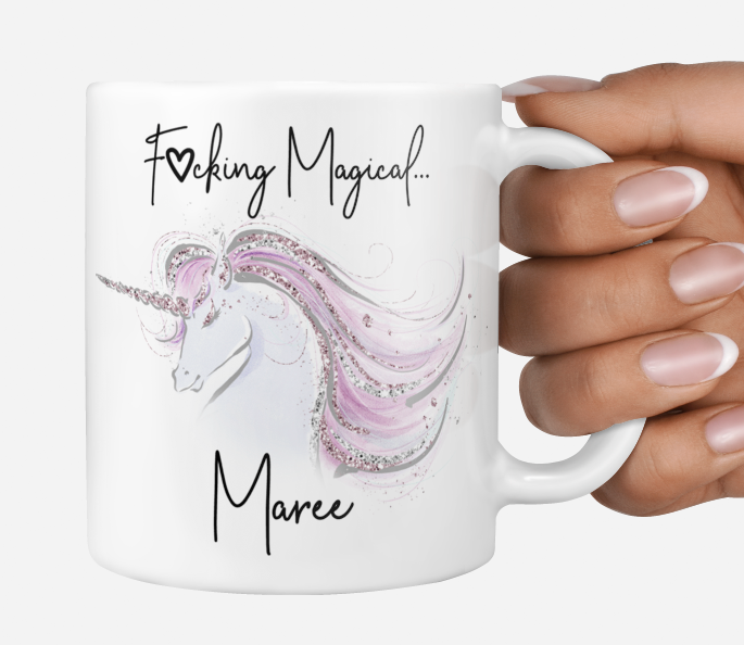 Personalised It's magical unicorn mug