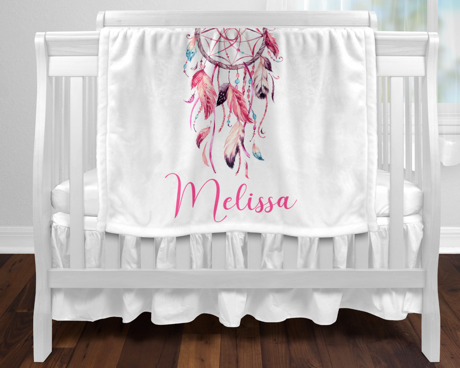Personalised baby blanket - Dream catcher