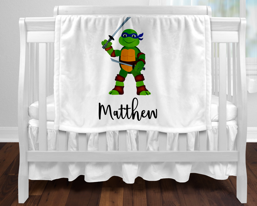 Personalised baby blanket - Turtle