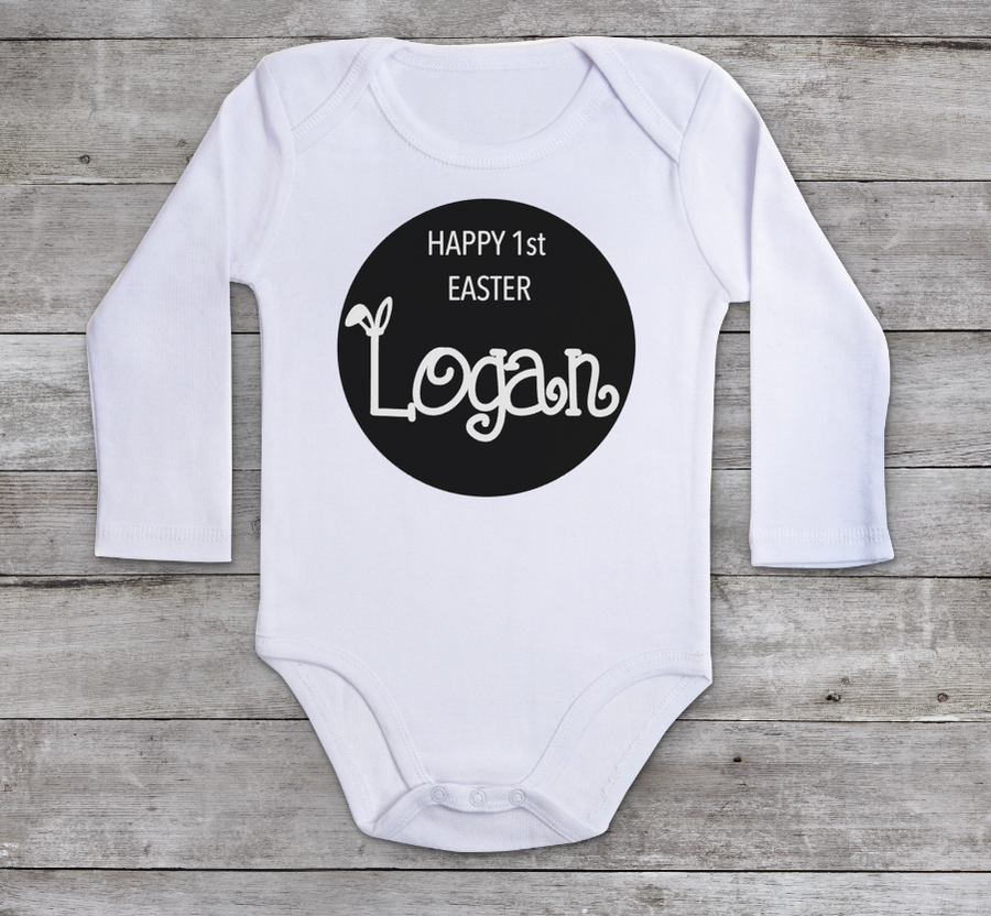 Personalised Easter baby romper Happy 1st Easter