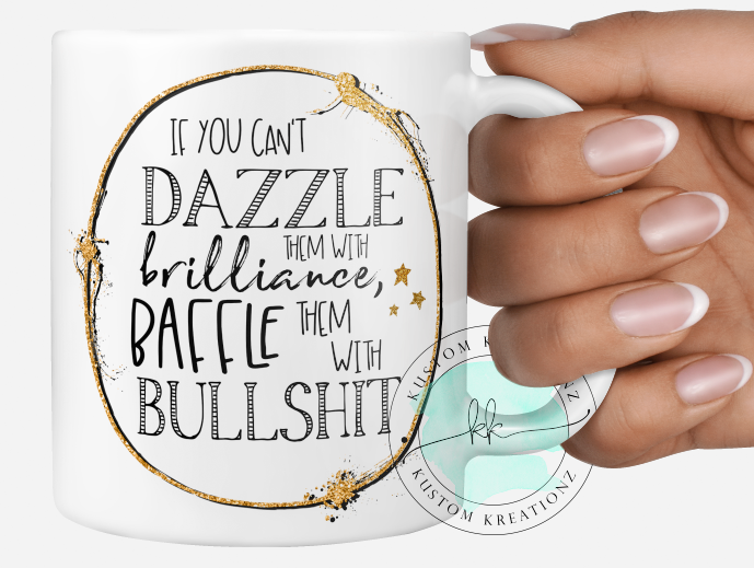 Funny baffle them with bullshit mug