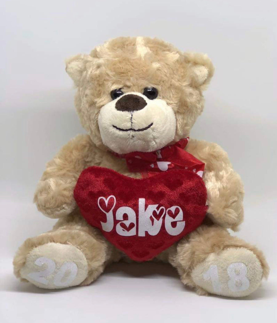 Valentine's Day personalised plush teddy