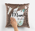 Personalised Magic sequin best mum ever cushion cover