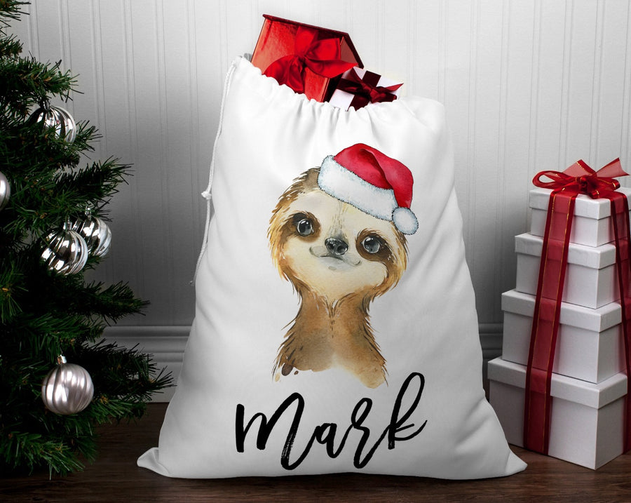 Personalised Santa sack Christmas Sloth