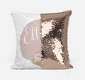 Personalised Magic sequin Unicorn cushion cover