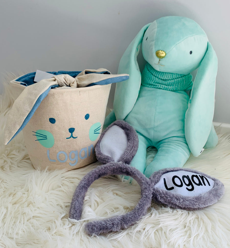 Personalised Easter set! Blue, mint & grey