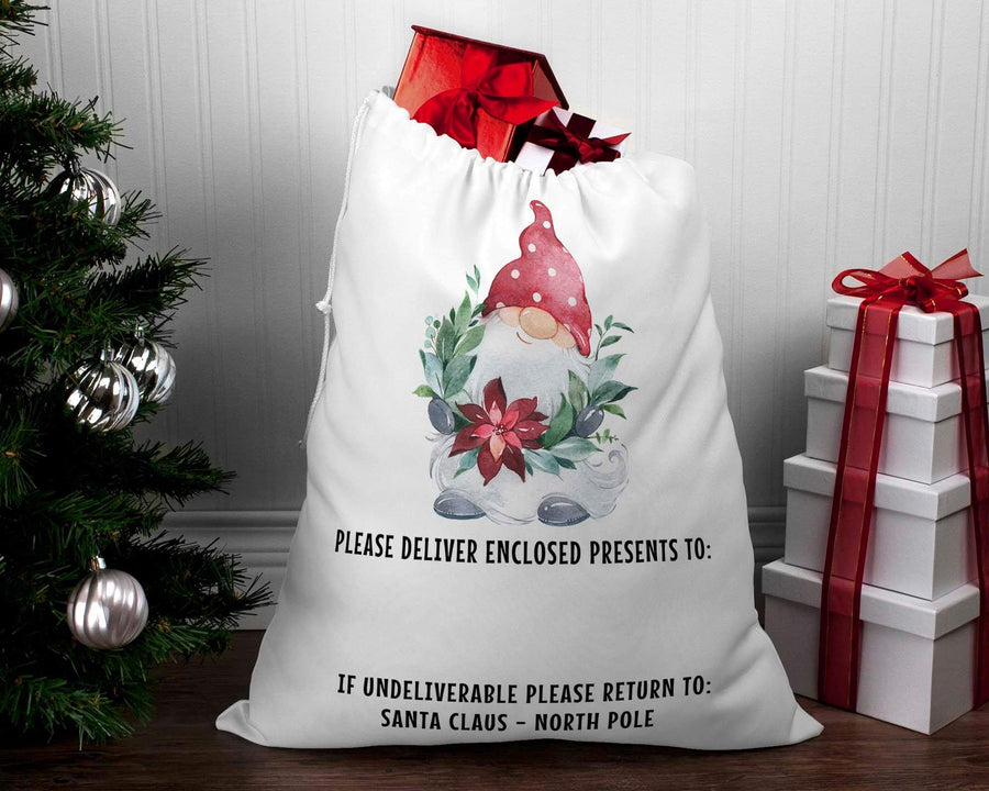 Personalised Santa sack Christmas Gnome #4