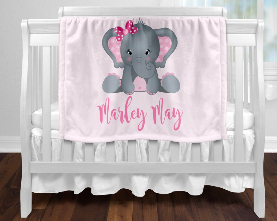 Personalised baby blanket pink