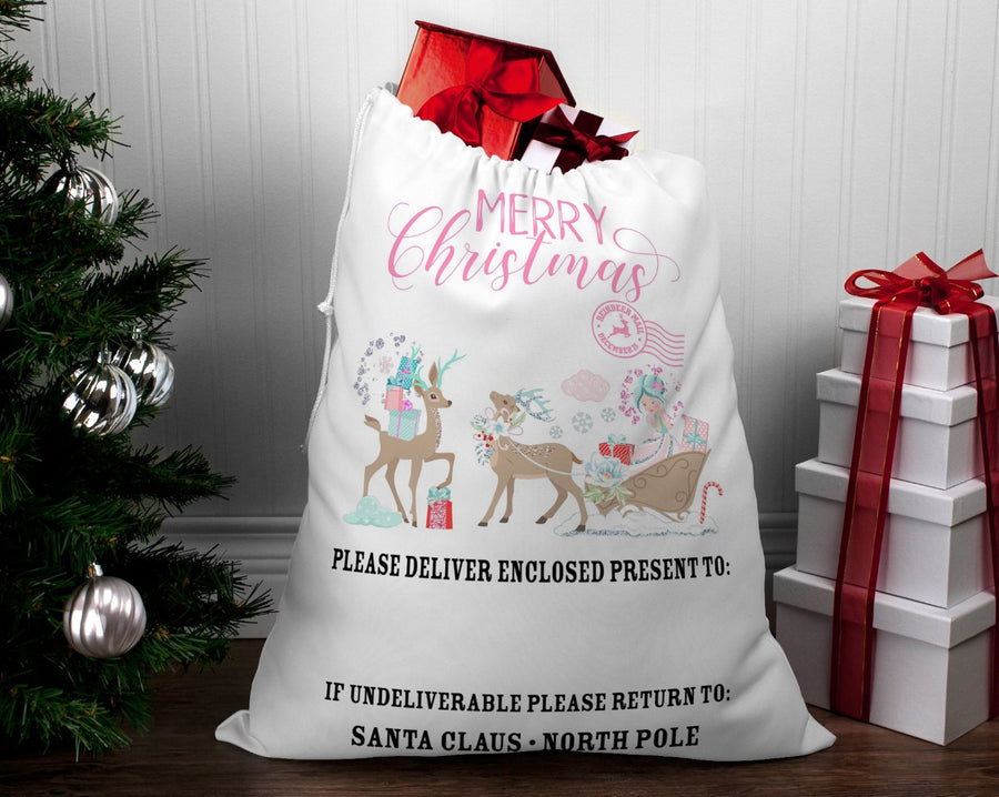 Personalised Santa sack Christmas Sparkle