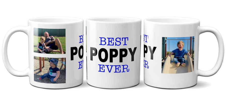 Personalised Father's Day photo mug Best Poppy ever