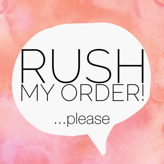 RUSH MY ORDER PLEASE ADD-ON *** PLEASE CONTACT US BEFORE PURCHASING ***