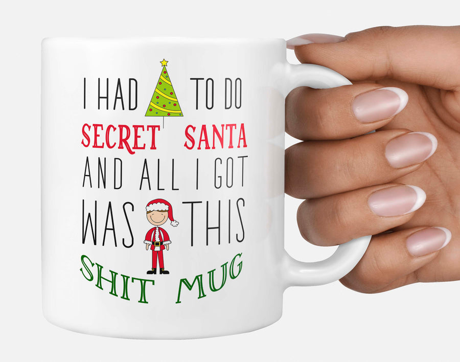 Secret Santa Funny Quote Christmas Kris Kringle Office Gift Present