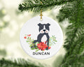 Personalised Ceramic Christmas Ornament Gift Dog Pet