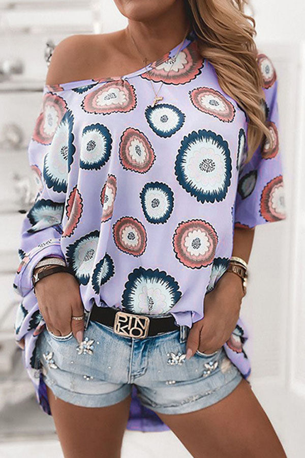 Graphic Print Crew Neck Half Sleeves Casual T-shirt