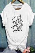 Letter Print Short Sleeves Paneled Casual T-shirt