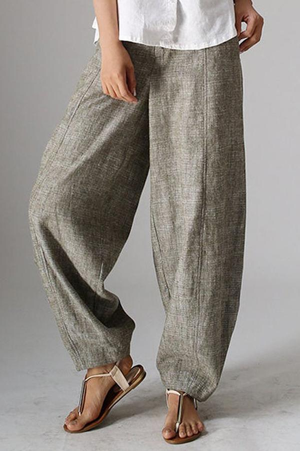 Casual Side Pockets Shift Pants