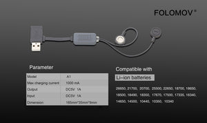 Folomov A1 Magnetic USB Charger
