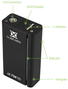 SMOK X-Cube Mini 75W - Night Black - SPECIAL PRICE! - free battery