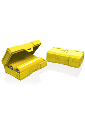 Chubby Gorilla Battery case - 2 x 18650 - Solid Yellow